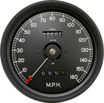 C Type Jaguar Replica Speedometer