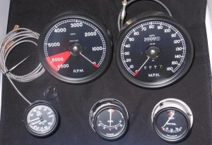 Jaguar C Type Replica Gauges