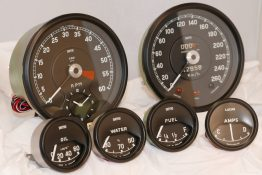 Jaguar E-Type Gauges Set