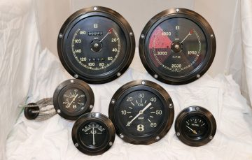 Bentley 3/8 Litre Instrument Set (Aged)